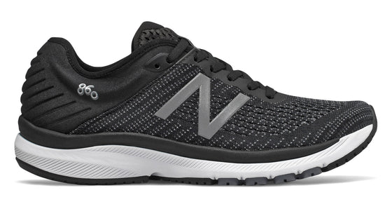 New Balance Women's W860v10 Running Shoe - Black W860K10 - ShoeShackOnline