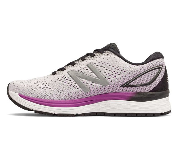 New Balance Women's 880v9 Running Shoe - White/Violet W880WT9 - ShoeShackOnline