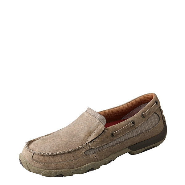 Twisted X Women's Slip-On Driving Moccasin - Bomber WDMS002 - ShoeShackOnline