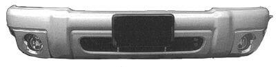 1999-2001 Ford Explorer Front Bumper Cover (Eddie Bauer; w/ Chrome Fog Hole Inserts) FO1000447