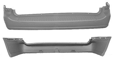 1999,2000 Ford Windstar Rear Bumper (Primed and Ready for Paint)