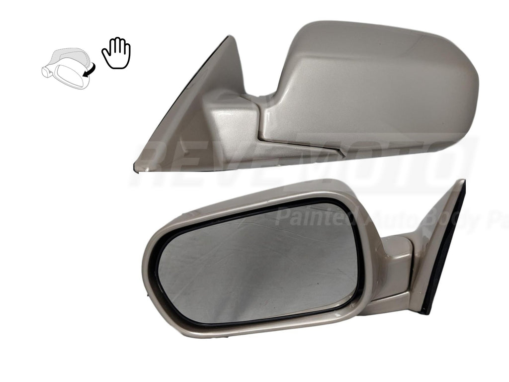 1998-2002 Honda Accord Mirror (Driver Side); Sedan-  USA/Japan Built; Power; Manual Folding; Non-Heated; HO1320125; 76250S84A31ZB