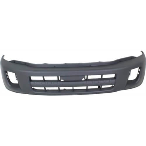2001-2003 Toyota RAV4 Front Bumper; w_o Wheel Opening Flares; w_ Fender Flares; Textured Gray; TO1000247; 5211942301