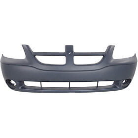 2001-2004 Dodge Caravan Front Bumper (w/o Fog Light Holes) - CH1000326