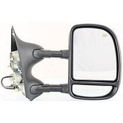 2001-2005 Ford Excursion Passenger Power Door Mirror (Heated; Foldaway Tow Type; w-Turn Signal; Manual Telescopic; Pwr; Double-Swing Type) FO1321274