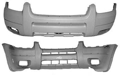 2001 Ford Escape Front Bumper XLT without Wheel Lip Molding : With Foglights