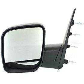 2002-2014 Ford Econoline Van Driver Side Door Mirror (Manual; Non-Heated; w Puddle Light; Non-Towing; Manual Folding; Dual Glass) FO1320253