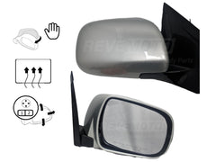2005 Lexus RX330 Passenger Side View Mirror, Manual Folding;Heated;wo Dimmer;w Memory Millenium Silver Metallic (1C0)_879100E900