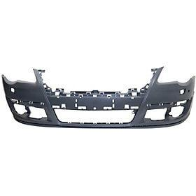 2006-2010 Volkswagen Passat Front Bumper (w/o Park Assist Sensor Holes; w/o Head Light Washer Holes) - VW1000165