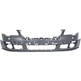 2007-2010 Volkswagen Passat Front Bumper Painted Black (L041), w/o Park Assist, w/o Head Light Washer
