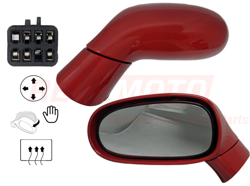 2005-2009 Chevrolet Corvette Driver Side Power Door Mirror Power, Manual Folding, w Heated Glass wo Auto-Dimming Glass wo Satelite Radio_GM1320412