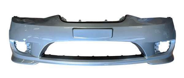 2005 Hyundai Tiburon Front Bumper, With Foglight Holes, Painted Ebony Black (EB)