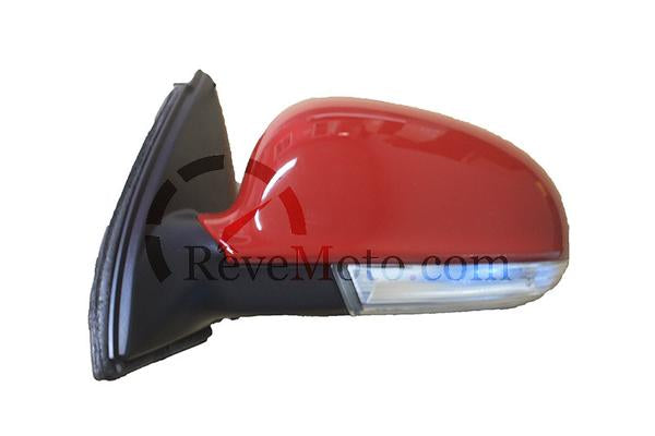 2005-2010 Volkswagen Jetta Side View Mirror (Type 5; Heated; w/ Signal Light; w/o Puddle Light; Driver-Side) - VW1320122