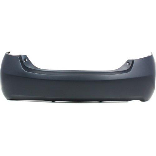 2007-2011 Toyota Camry Rear Bumper; USA Built, BASE_CE_LE_XLE Models, Except SE Models;  w_ Single Exh Hole; 4Cyl; w_o Spoiler Holes; OE 2nd Design w_ 3 Lower Tabs; TO1100243; 5215906950