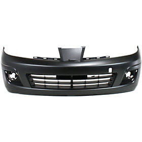2007-2012 Nissan Versa Front Bumper Cover Fits 07-11 SDN  07-12 HB; wo Sport Pkg; w Tow Hook Hole; w Fog Light Holes, Hatchback Sedan_NI1000245