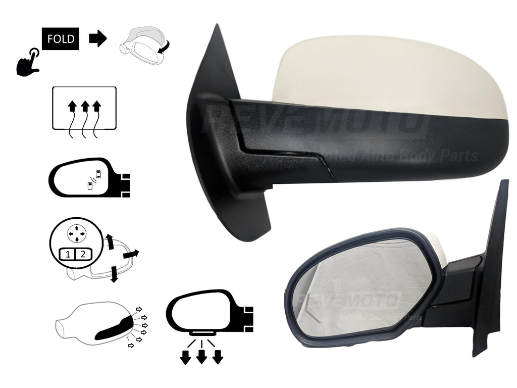 2011 Cadillac Escalade : Side View Mirror Painted (OEM)