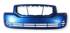 2008-2009 Dodge Caliber Front Bumper Painted Surf Blue Pearl (PQD), Without Foglight Hole