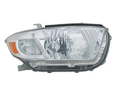 2008,2009,2010 Toyota Highlander Headlight; Driver side, Passenger side