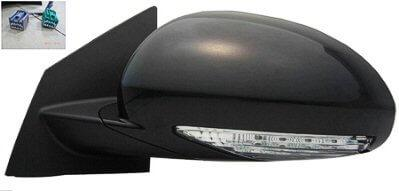 2008-2012 Buick Enclave Side View Mirror (Heated; w Mem; w Turn Signal; Manual Fold; Left) - GM1320378