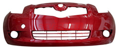 2007 Toyota Yaris  Front Bumper, 4-Door, Sedan, With Fog Lights P#5211952925-TO1000325 Painted Barcelona Red Mica (3R3)