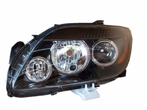 2008,2009,2010 Scion tC Headlight; with Base Package, without Base Package