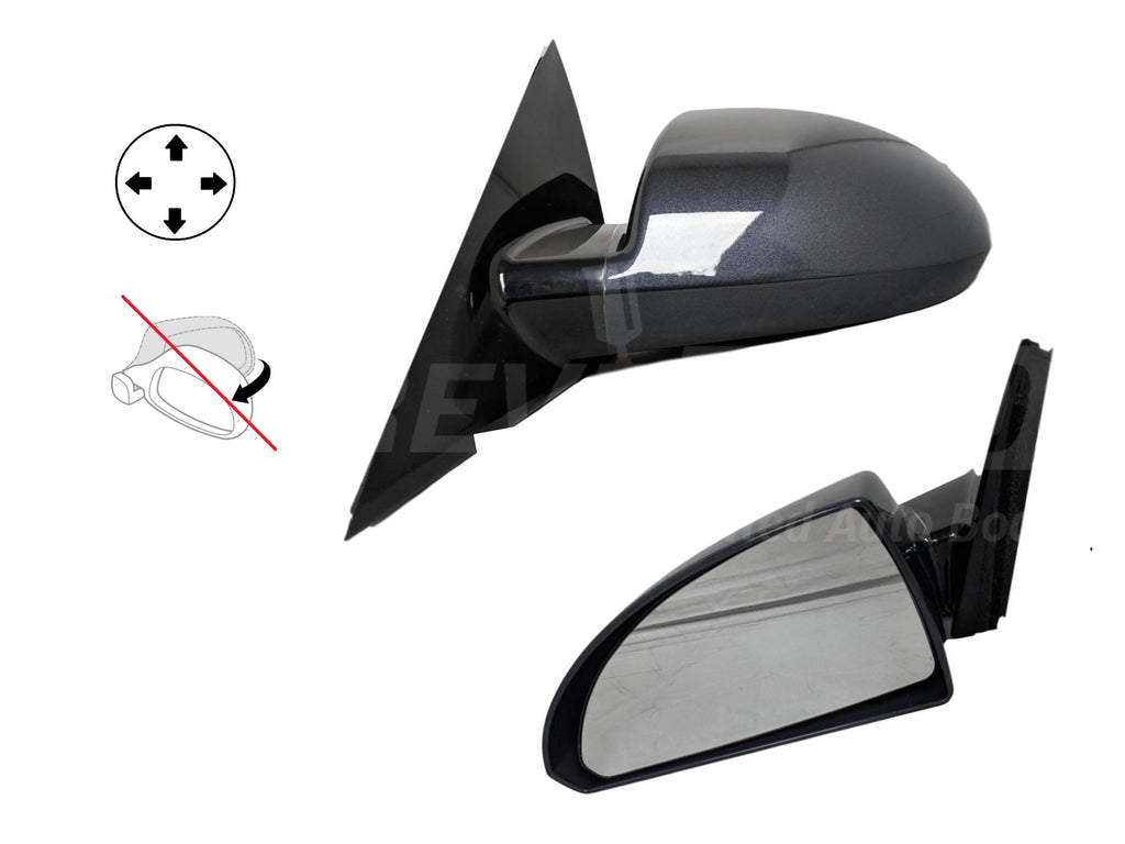 2006-2013 Chevrolet Impala Driver Side Power Door Mirror Pwr, Non-Folding, Non-Heated, w Smooth Black Base 14-16 impala_limited_fleet_ GM1320306