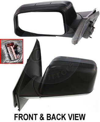 2008 Ford Edge Driver Side Door Mirror (Heated; w/Puddle Light; w/Memory; Power; Manual Folding) FO1320367