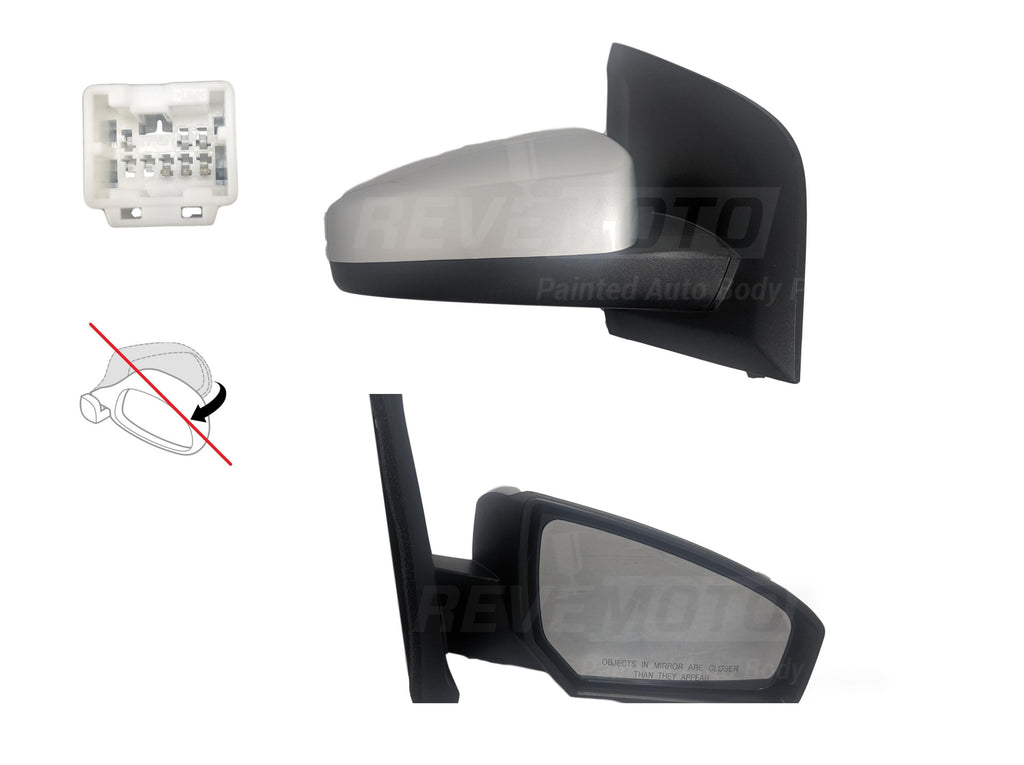 2007-2012 Nissan Sentra Driver Side Manual Door Mirror Manual Remote, Non-Folding, Non-Heated_NI1320166