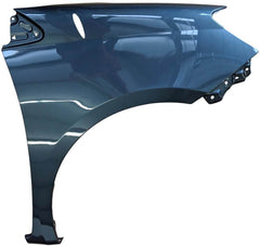 2007 Toyota Sienna Passenger Side Fender, With Antenna Hole, Painted Slate Metallic (1F9)