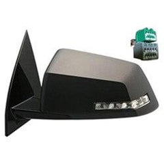 2009-2013 Chevrolet Traverse Driver Side Power Door Mirror Power Folding w Heated Glass w Turn Signal Light w Memory_GM1320384