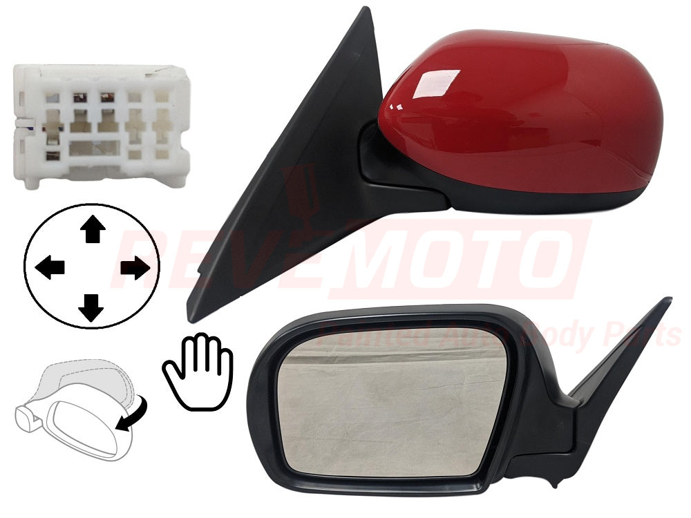 2008-2011 Subaru Impreza Driver Side Power Door Mirror (Sedan-Wagon; Heated; Power; Manual Folding) SU1320114