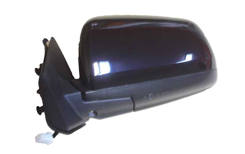 2009 Mitsubishi Lancer Side View Mirror Painted Tarmac Black Pearl, Paint Code: X42 (back view)