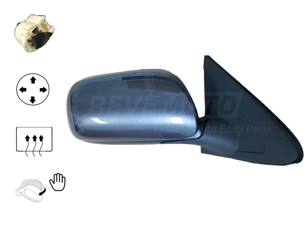 2009-2013 Toyota Matrix Mirror (Driver Side); Power; Non-Heated; Manual Folding; TO1320248; 8790902870