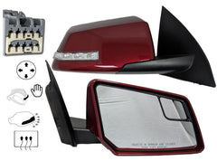 2012 Chevrolet Traverse Passenger Side View Mirror,  Heated, With Turn Signal, Manual Folding, Painted  Red Jewel Tintcoat Metallic (WA301N)_20879274 - ReveMoto