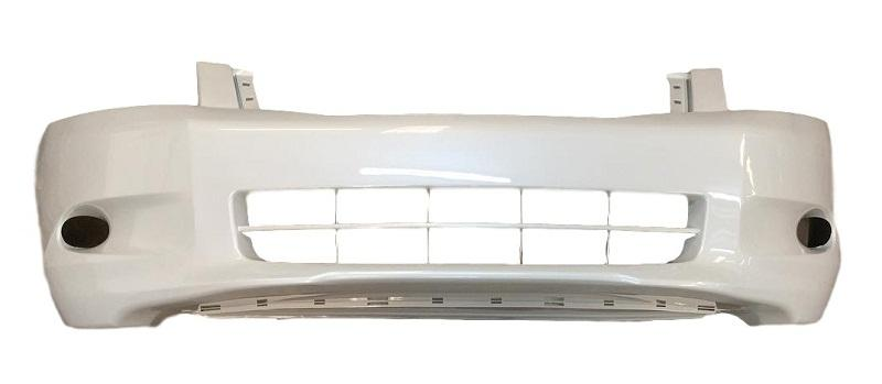2010 Honda Accord Front Bumper, Sedan 4 CYL, Without Fog Light Holes, Painted Alabaster Silver Metallic (NH700M)