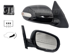 2010 Kia Forte Passenger Side View Mirror Sedan; Heated; w- Turn Signal Light Painted Ebony Black (EB)_876061M000