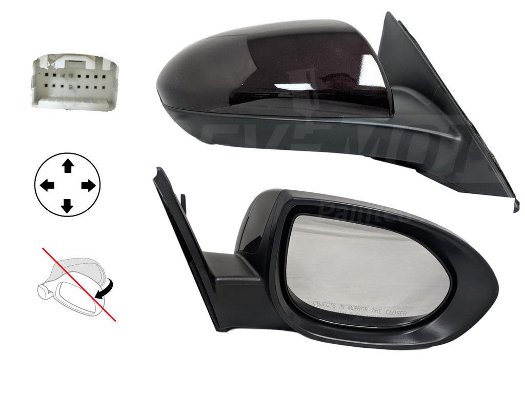 2009-2013 Mazda 6 Mirror (Driver Side); Power; Non-Folding; Non-Heated; w/o Blindspot Detection; w/o Puddle Light (Lighted Entry); w/o Signal Light ; MA1320163; GS3L6918ZB-PFM