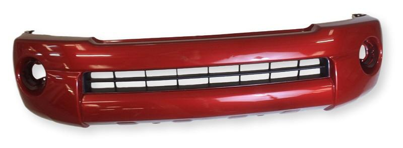2011 Toyota Tacoma Front Bumper Painted Barcelona Red Mica (3R3), Base