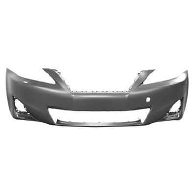 2011-2013 Lexus IS350 Front Bumper; w_o Sport; w_o HL Washer Holes; w_o Park Assist Sensor Holes; LX1000212; 5211953979