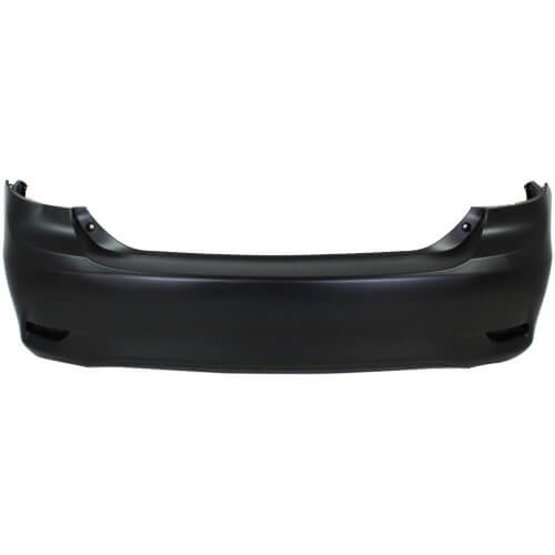 2011 Toyota Corolla Rear Bumper Cover,  _ Sedan; Canada Built, Base, CE, LE Except S, XRS Models, Without Spoiler Holes, Painted  Barcelona Red Mica (3R3)