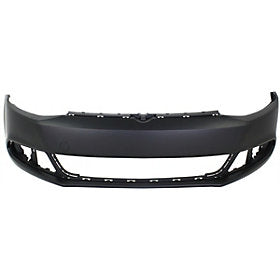 2011-2014 Volkswagen Jetta Front Bumper (Type 6; Sedan Models except GLI; w/o Headlight Washer Holes; w/o Park Assist Sensor Holes) - VW1000190
