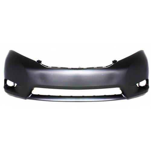 2011-2017 Toyota Sienna Front Bumper; SE Models; w_ Round Fog Holes; Textured Center Area; TO1000367; 5211908903