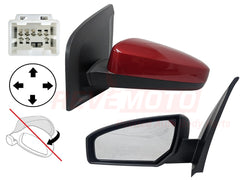 2010 Nissan Sentra Side View Mirror Painted Carmine Red Metallic (NAC), Power, Non-Folding, Non-Heated, Left, Driver-side 96302ET01E