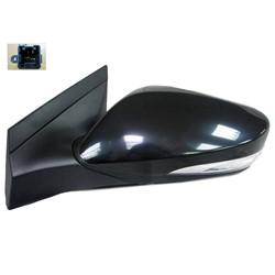 2012-2017 Hyundai Accent Driver Side Manual Door Mirror (Hatchback/Sedan; Non-Heated; w/o Turn Signal; w/o BSM; Manual Remote; Manual Folding) HY1320184