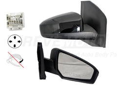 2012_Nissan_Sentra_Passenger_Side_View_Mirror_Power_Non-Folding_Non-Heated_Painted_Black_Obsidian_KH3__96301ET01E