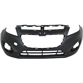 2013-2015 Chevrolet Spark Front Bumper Cover except EV Model w Fog Light Holes w Sport wo Integral Lower Grille_GM1000934