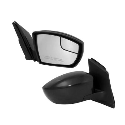 2013-2016 Ford Escape Passenger Side Power Door Mirror (Heated; w-o Turn Signal; w- Blind Spot Mirror; w-Chrome Cap) FO1321514