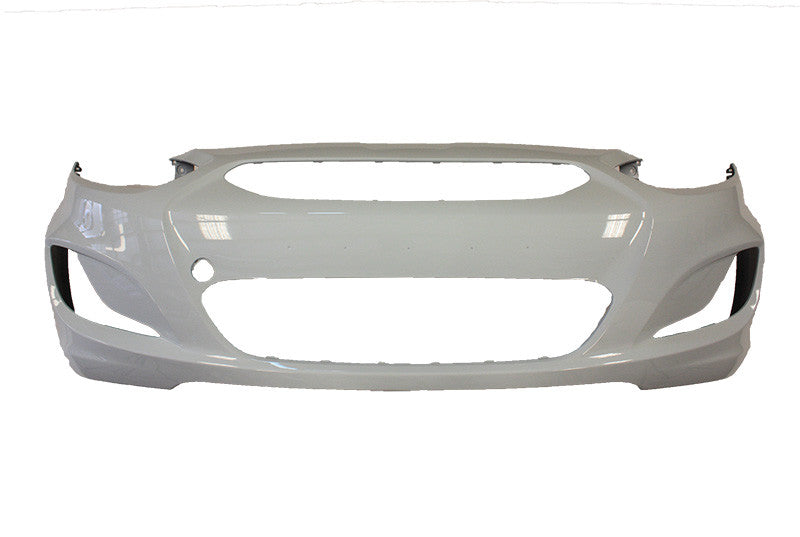 2012 Hyundai Accent Front Bumper Painted Sleek Silver Metallic (RHM)