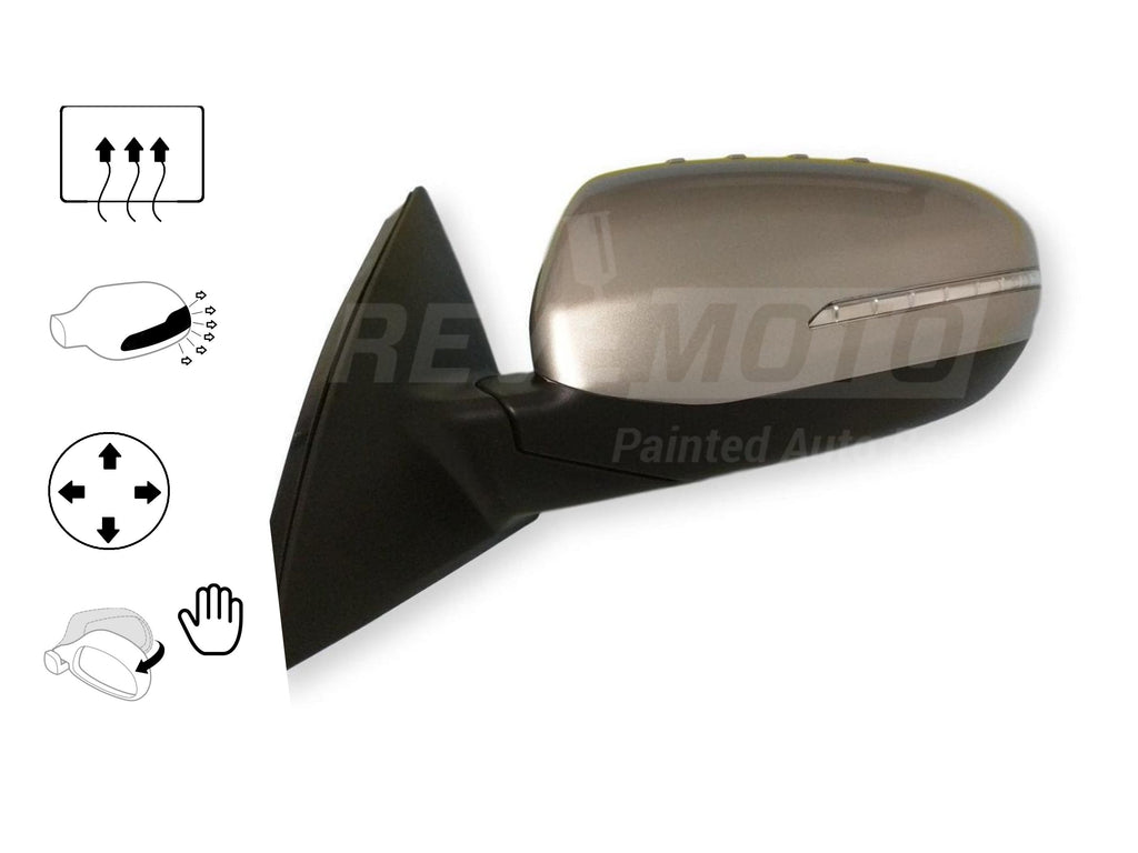 2011-2013 Kia Optima Driver Side Power Door Mirror (Heated; w_Signal Light; Power; Manual Folding)_KI1320153