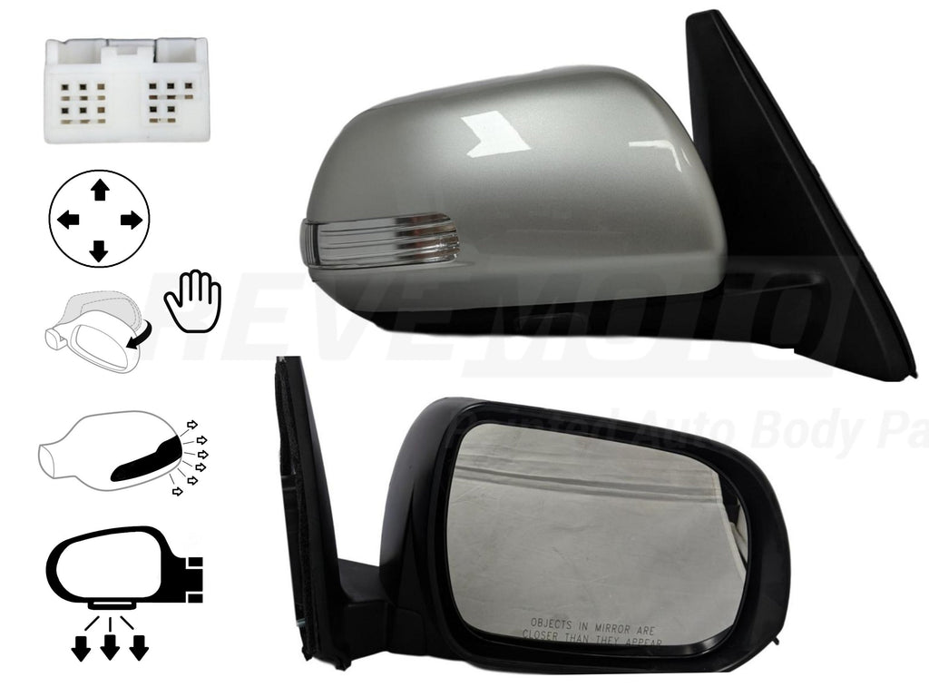 Toyota 4Runner Mirror (Driver Side) 10-13; Power; Heated; Manual Folding; w_ Turn Signal; w_ Puddle Lights; 8794035A31
